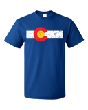 Standard Royal Colorado State Flag Distressed T-shirt