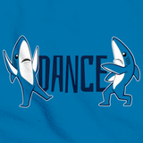 Sharky Dance Aqua Blue Art Preview