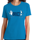 Ladies Aqua Blue Dance, Shark, DANCE! T-shirt
