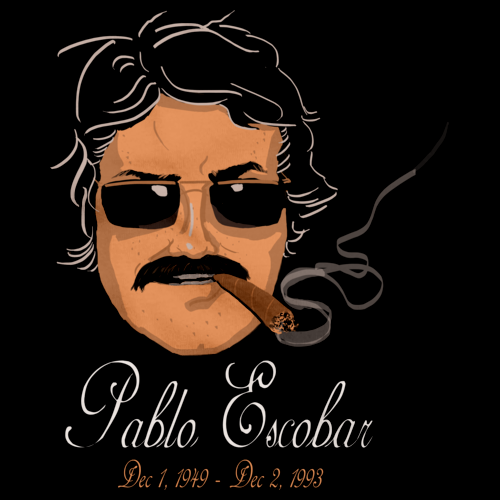 PABLO ESCOBAR Black art preview