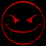 Evil Smiley Face Black Art Preview