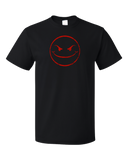 Standard Black Evil Smiley Face T-shirt
