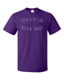 Standard Purple French Kissing And Holding Hands - Awkward Cheesy Pick-Up Line T-shirt