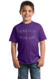 Youth Purple French Kissing And Holding Hands - Awkward Cheesy Pick-Up Line T-shirt