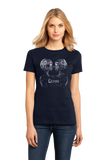 Ladies Navy Star Sign: Gemini - Astrology Astrological Sign Twins T-shirt