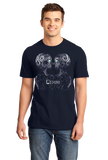 Standard Navy Star Sign: Gemini - Astrology Astrological Sign Twins T-shirt