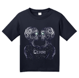 Youth Navy Star Sign: Gemini - Astrology Astrological Sign Twins T-shirt