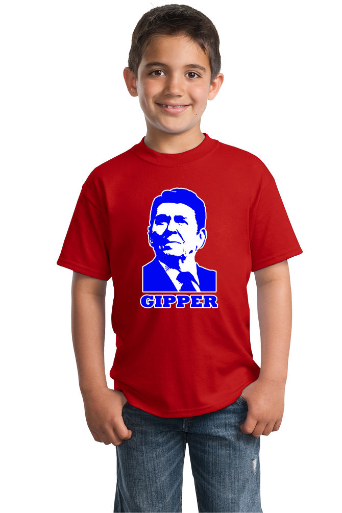 Youth Red Gipper - Ronald Reagan Republican Conservative Icon Cold War T-shirt
