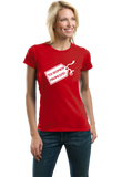 Ladies Red God's Gift To Women - Cheesey Pick-Up Line Awkward Funny Nerd T-shirt