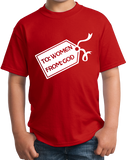Youth Red God's Gift To Women - Cheesey Pick-Up Line Awkward Funny Nerd T-shirt