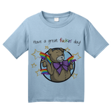 Youth Light Blue Have A Great Fuckin' Day! - Ted Teddy Bear F-Word Funny Cute T-shirt