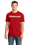 Standard Red #Awkward - Hashtag Awkward Social Anxiety Joke Neurotic Humor T-shirt