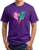 Unisex Purple Hold Your Horses in Your Heart - Horse Lover Horseback Riding