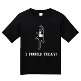 Youth Black I POOPED TODAY! T-shirt