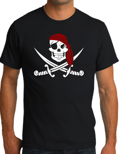 Standard Black Jolly Roger Pirate Flag Tee T-shirt