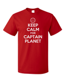 Standard Red KEEP CALM FOR CAPTAIN PLANET T-shirt