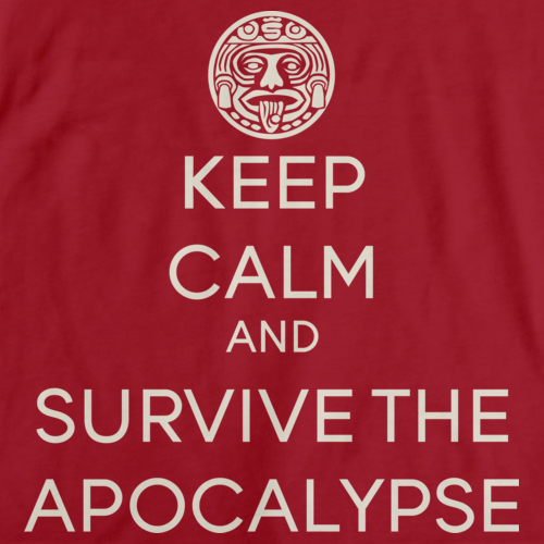 KEEP CALM AND SURVIVE THE APOCALYPSE Red art preview