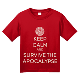 Youth Red KEEP CALM AND SURVIVE THE APOCALYPSE T-shirt