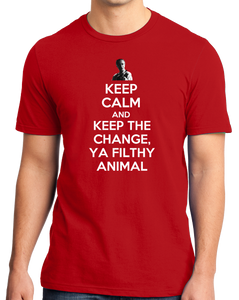 Standard Red Keep Calm And Keep The Change, Ya Filthy Animal - Home Alone T-shirt