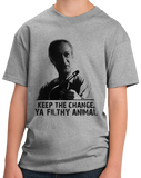 Youth Grey KEEP THE CHANGE, YA FILTHY ANIMAL T-shirt