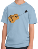 Youth Light Blue This Machine Kills Fascists - Woody Guthrie Folk Music Guitar T-shirt
