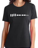 Ladies Black Konami Code - Contra Gamer Gaming Video Game Nerd Geek Pride T-shirt