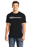 Standard Black Konami Code - Contra Gamer Gaming Video Game Nerd Geek Pride T-shirt
