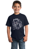Youth Navy Star Sign: Leo - Horoscope Astrology Astrological Sign Lion T-shirt