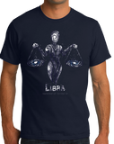 Standard Navy Star Sign: Libra - Horoscope Astrology Astrological Sign Scales T-shirt