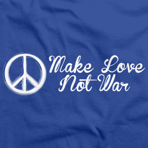 MAKE LOVE NOT WAR Royal Blue art preview