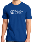 Standard Royal Make Love Not War - Hippie Peace Sign Pacifist Liberal Anti-War T-shirt
