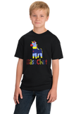 Youth Black Masochist (Pinata) - Funny Pinata S/M Joke Silly Party Sub Humor T-shirt