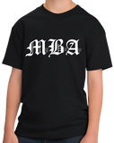 Youth Black MBA: Miss Bad Ass - Business School Humor Joke Funny Gift T-shirt