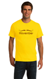 Standard Yellow MOVEMBER MUSTACHE MONTH T-shirt