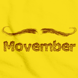 MOVEMBER MUSTACHE MONTH Yellow Art Preview