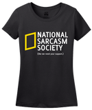 Ladies Black National Sarcasm Society T-shirt