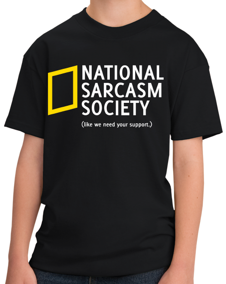 Youth Black National Sarcasm Society T-shirt