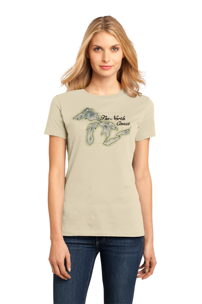 Ladies Natural North Coast - Great Lakes Pride Lake Superior Huron Michigan T-shirt