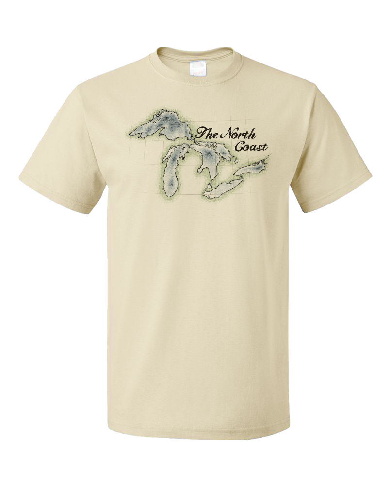 Standard Natural North Coast - Great Lakes Pride Lake Superior Huron Michigan T-shirt