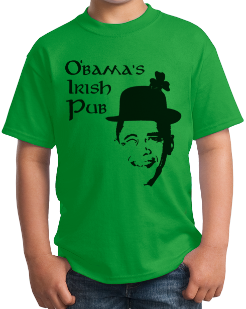 Youth Green O'bama's Irish Pub T-shirt