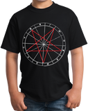 Youth Black Pentagram - Wicca Santanism Majick Occult Conjure Sigil Goth T-shirt
