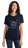 Ladies Navy Star Sign: Pisces - Horoscope Astrology Astrological New Age T-shirt