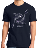 Standard Navy Star Sign: Pisces - Horoscope Astrology Astrological New Age T-shirt