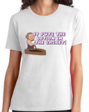 Ladies White It Puts The Lotion On The Skin - Creepy, Adorable Horror Movie T-shirt