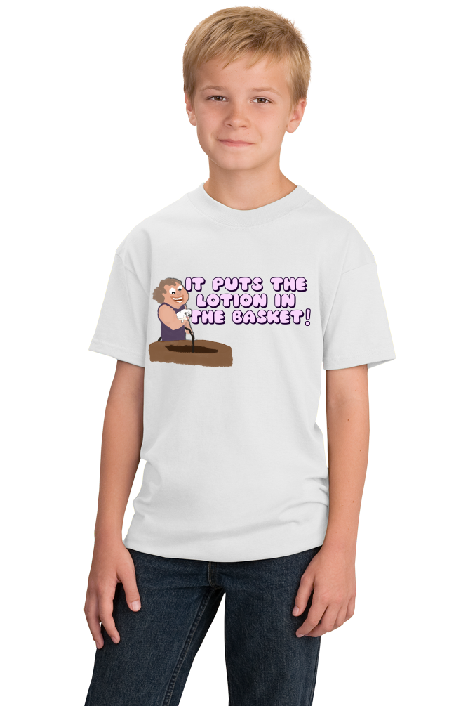 Youth White It Puts The Lotion On The Skin - Creepy, Adorable Horror Movie T-shirt