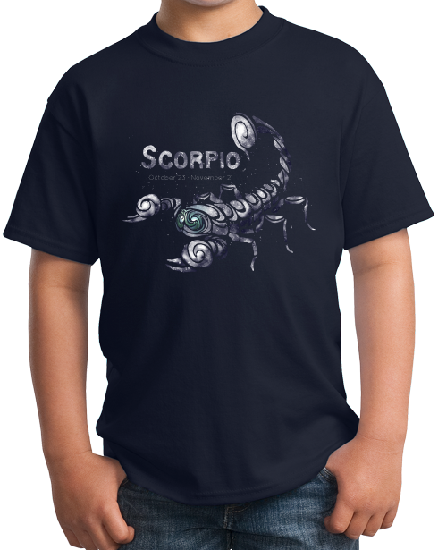 Youth Navy Star Sign: Scorpio - Horoscope Astrology Astrological Scorpion T-shirt