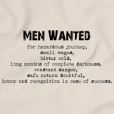 "ERNEST SHACKLETON ""MEN WANTED"" TRIBUTE Natural art preview"