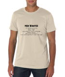 "Standard Natural Ernest Shackleton ""Men Wanted"" Tribute - Adventurer Leader T-shirt"