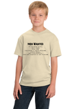 "Youth Natural Ernest Shackleton ""Men Wanted"" Tribute - Adventurer Leader T-shirt"