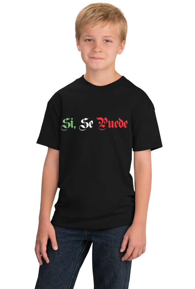 Youth Black Si Se Puede - Chicano Pride Latino United Farm Workers Protest T-shirt